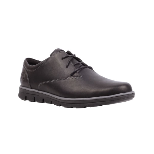 Timberland Mens Earthkeepers Bradstreet Plain Toe Oxford Shoes Black Smooth