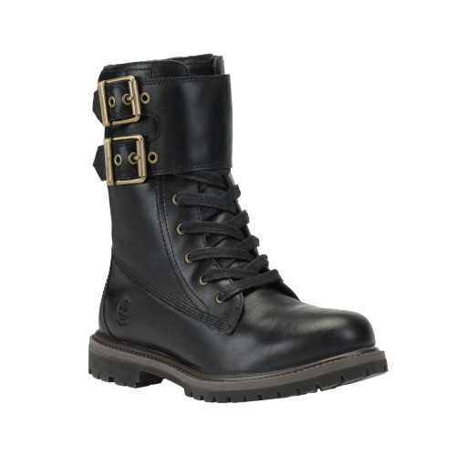Timberland Womens Earthkeepers 8-Inch Double-Strap Boots Black