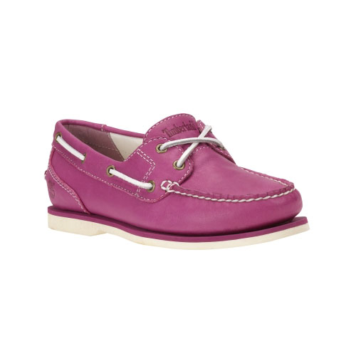 Timberland Womens Earthkeepers Classic Amherst 2-Eye Boat Shoes Mauve Full-Grain