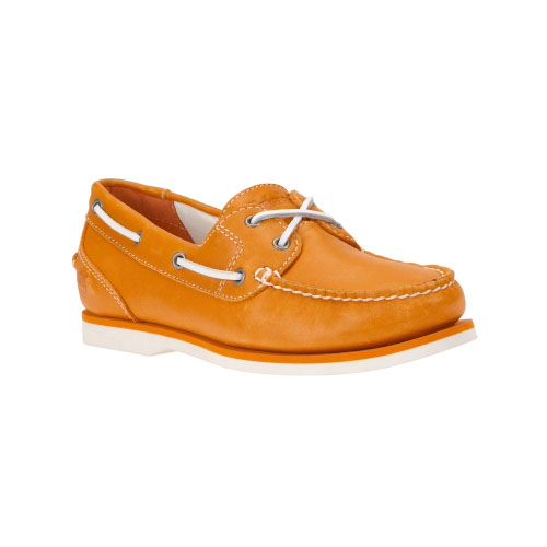 Timberland Womens Earthkeepers Classic Amherst 2-Eye Boat Shoes Apricot Full-Grain