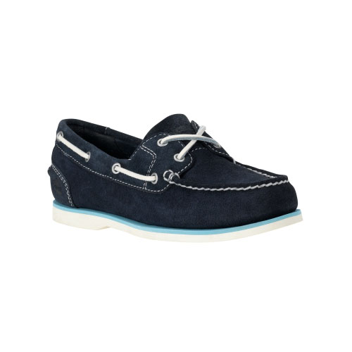 Timberland Womens Earthkeepers Classic Unlined Boat Shoes Navy Suede
