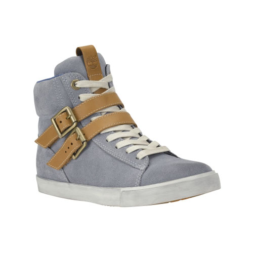 Timberland Womens Glastenbury Leather High-Top Shoes  Grey Suede