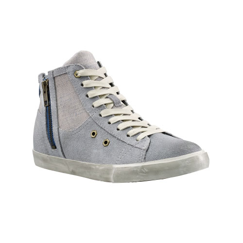 Timberland Womens Glastenbury Leather Side-Zip Shoes Grey Suede