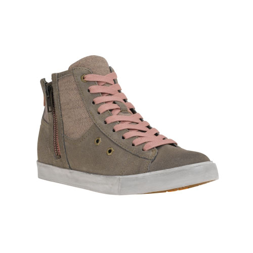 Timberland Womens Glastenbury Leather Side-Zip Shoes Warm Grey Suede
