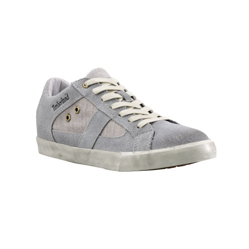 Timberland Womens Glastenbury Leather Oxford Shoes Grey Suede