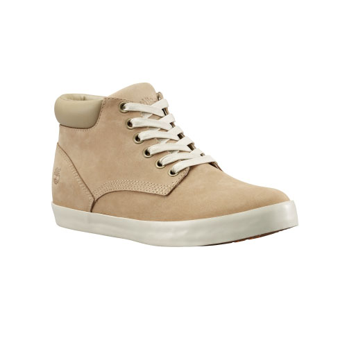 Timberland Womens Glastenbury Chukka Shoes Off-White Nubuck