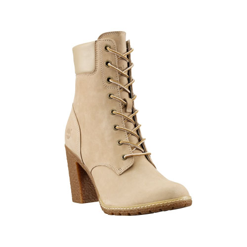 Timberland Womens Earthkeepers Glancy 6-Inch Boots Off-White Nubuck