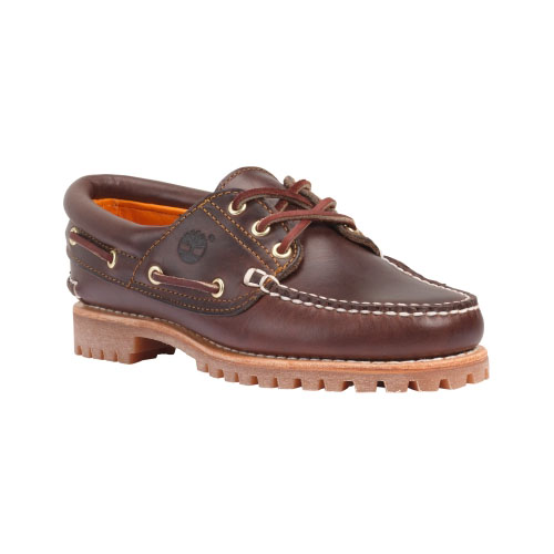 Timberland Womens Noreen 3-Eye Handsewn Shoes Brown Smooth