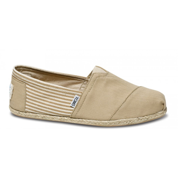 Toms University Khaki Rope Sole Men Classics