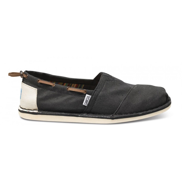 Toms Black Denim Bimini Men Stitchouts