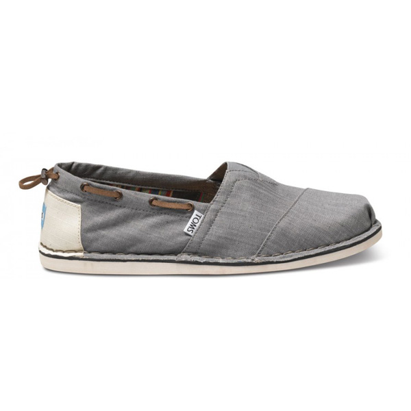 Toms Grey Denim Bimini Men Stitchouts