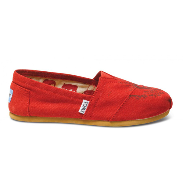 Toms Sub Pop Red Women Classics