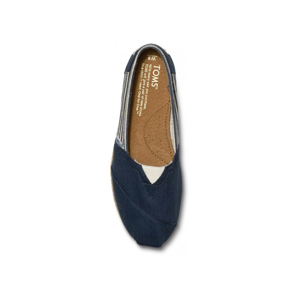 Toms University Navy Rope Sole Women Classics