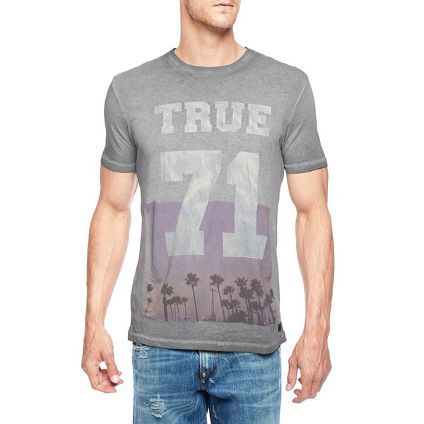 TRUE RELIGION EUROPEAN 71 PALM MENS T-SHIRT