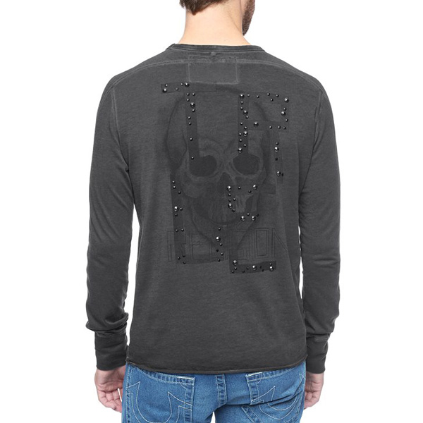 TRUE RELIGION EUROPEAN SKULL MENS T-SHIRT