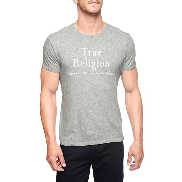TRUE RELIGION LOGO MENS T-SHIRT