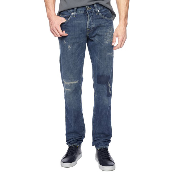 TRUE RELIGION EUROPEAN GENO SLIM PATCHED MENS JEAN