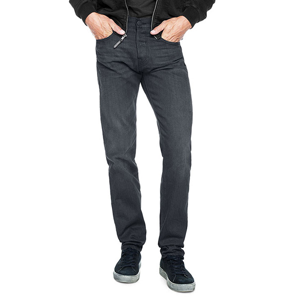 TRUE RELIGION EUROPEAN ROCCO SKINNY RECYCLED BLACK MENS JEAN