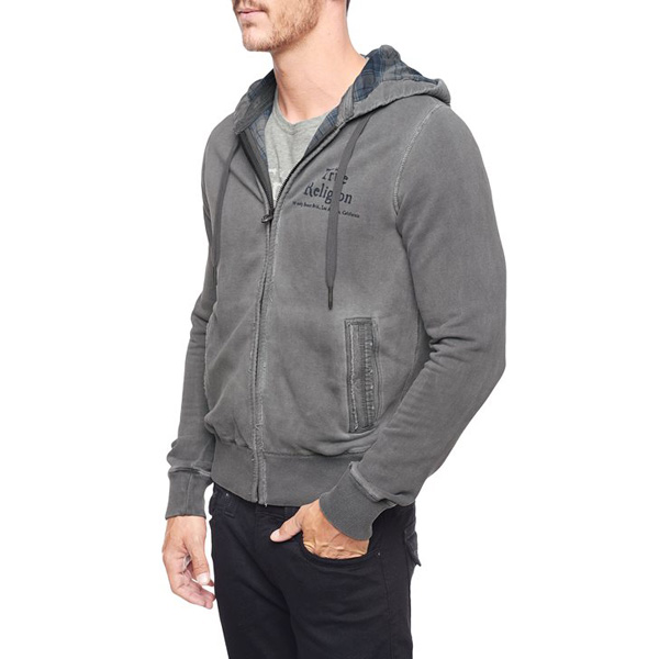 TRUE RELIGION LOGO LINED MENS HOODIE