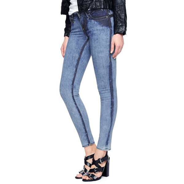 TRUE RELIGION EUROPEAN CHRISSY MID RISE SUPER SKINNY WOMENS JEAN