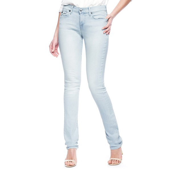 TRUE RELIGION CORA MID RISE STRAIGHT 34 FLAP