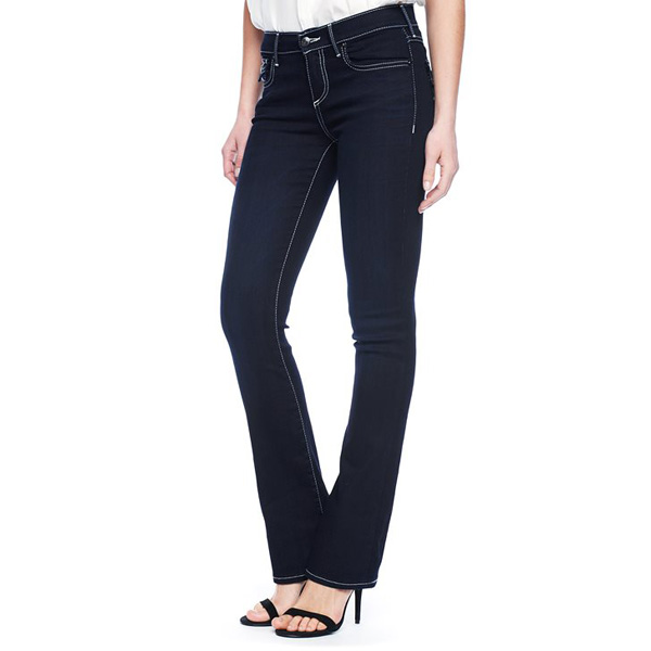 TRUE RELIGION BECCA MID RISE BOOTCUT WITH FLAP WOMENS JEAN