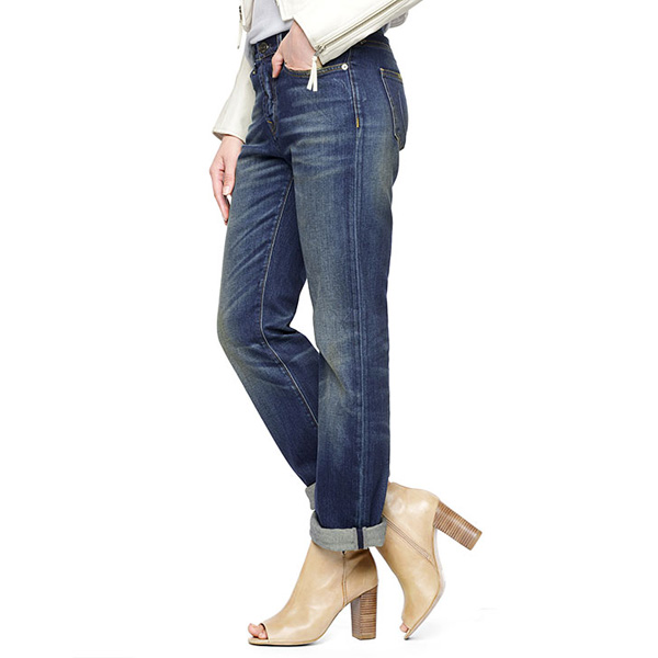 TRUE RELIGION ITALIAN HARPER LOW RISE BOYFRIEND WOMENS JEAN
