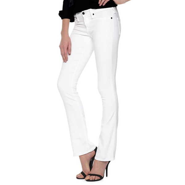 TRUE RELIGION BECCA MID RISE BOOTCUT WOMENS WHITE JEAN