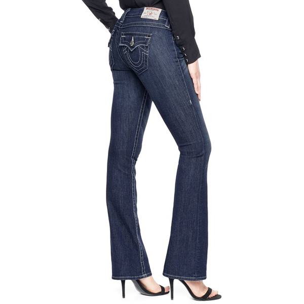 TRUE RELIGION WOMENS BECKY MID RISE BOOTCUT JEAN