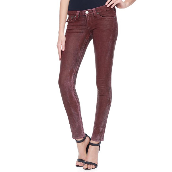 TRUE RELIGION HAND PICKED SKINNY WOMENS JEANS