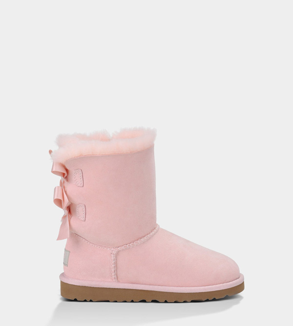 UGG KIDS BAILEY BOW BABY PINK