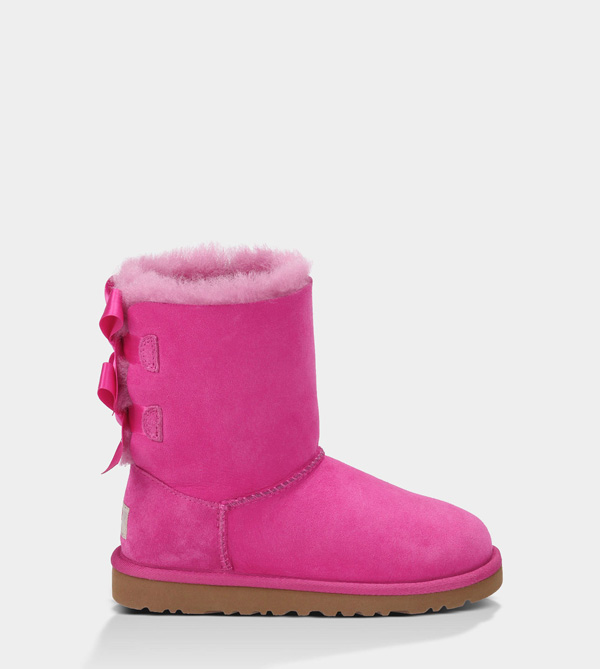 UGG KIDS BAILEY BOW RASPBERRY SORBET
