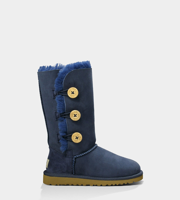 UGG KIDS BAILEY BUTTON TRIPLET NAVY BLUE