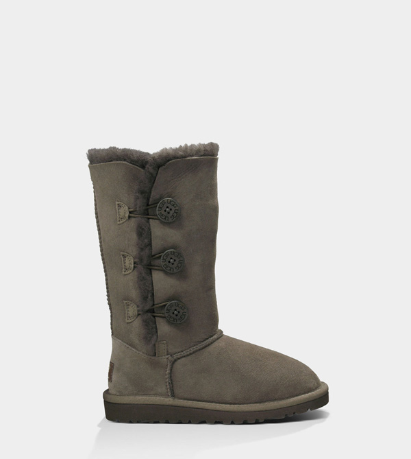 UGG KIDS BAILEY BUTTON TRIPLET CHOCOLATE
