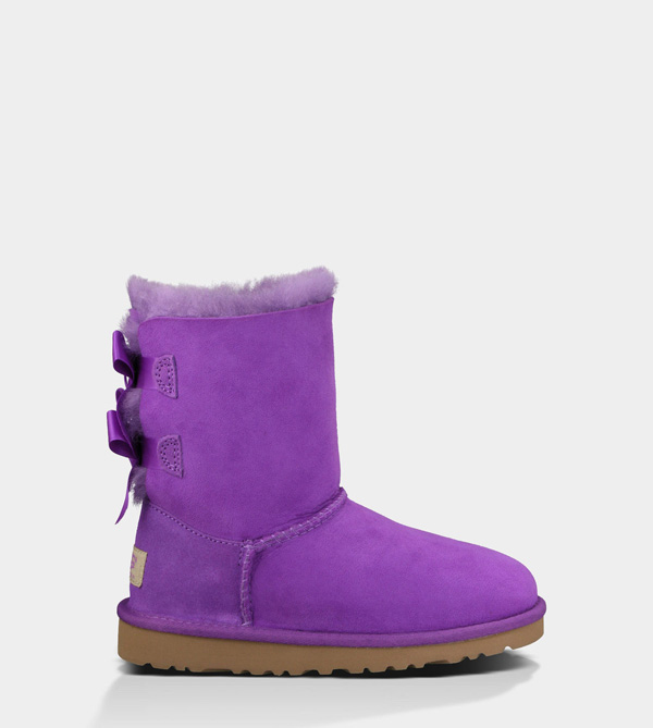 UGG TODDLERS BAILEY BOW ELECTRIC VIOLET