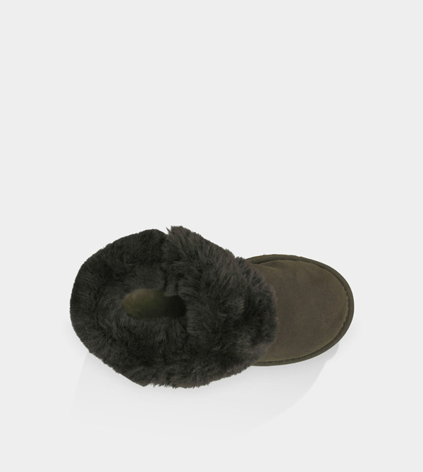 UGG TODDLERS BAILEY BUTTON CHOCOLATE