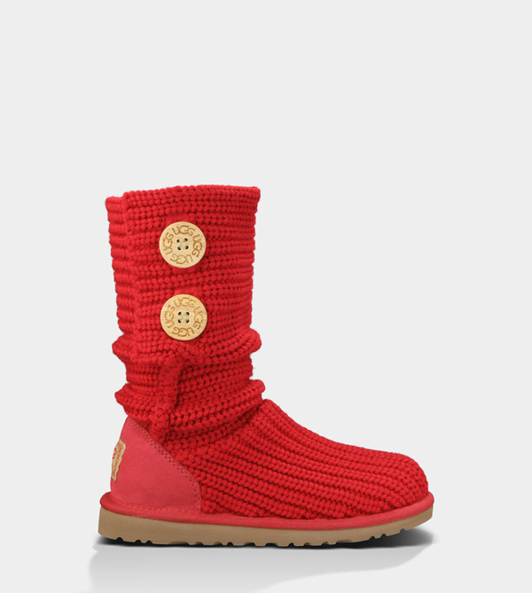 UGG TODDLERS CARDY RIBBON RED