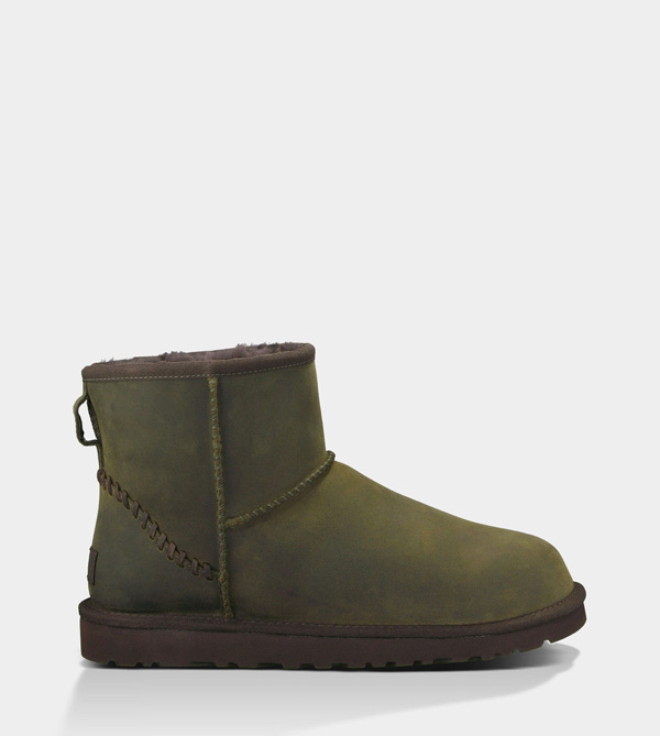 UGG MENS CLASSIC MINI DECO BURNT OLIVE