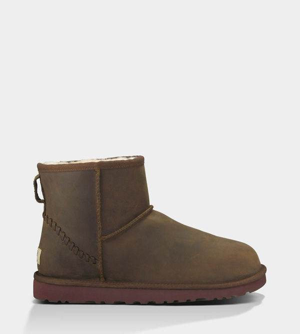 UGG MENS CLASSIC MINI DECO CHESTNUT