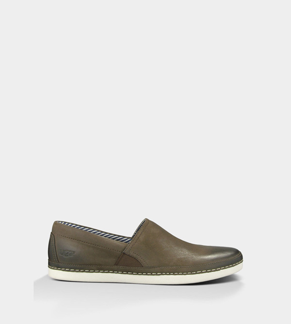 UGG MENS REEFTON - LEATHER GRIZZLY