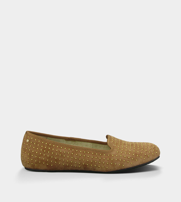 UGG WOMENS ALLOWAY STUDDED CHESTNUT