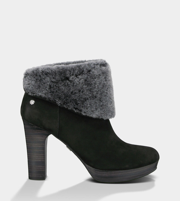 UGG WOMENS DANDYLION - NUBUCK BLACK