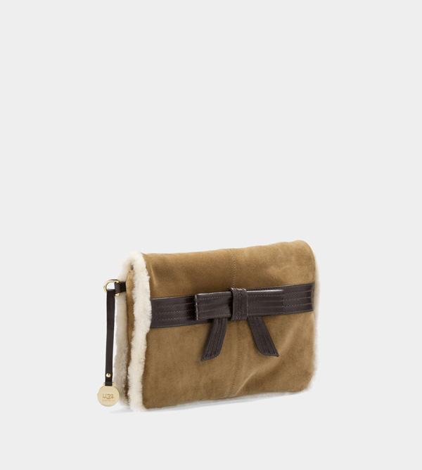 UGG WOMENS GENEVIEVE CLUTCH CHESTNUT