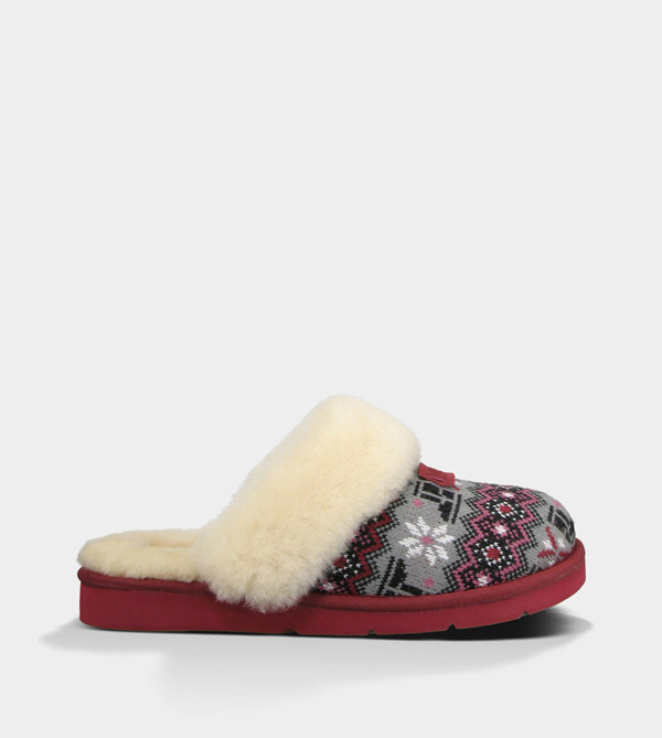 UGG WOMENS COZY NORDIC KNIT SANGRIA