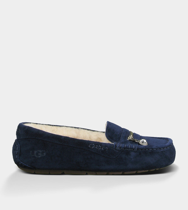 UGG WOMENS ANSLEY CHARM MIDNIGHT