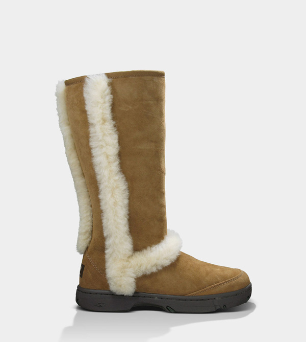 UGG WOMENS SUNBURST TALL CHESTNUT