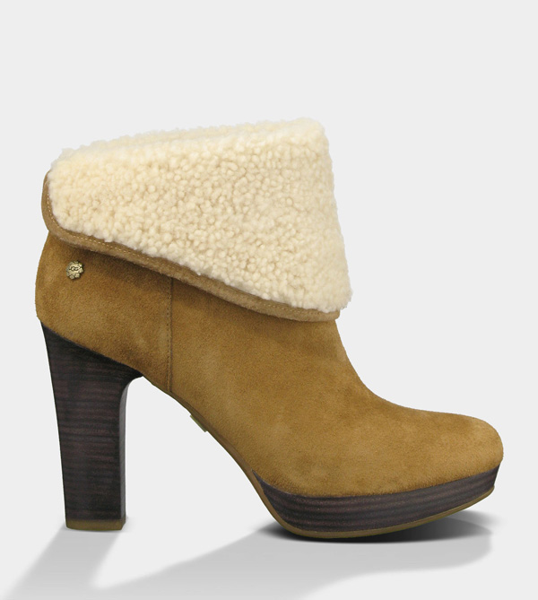 UGG WOMENS DANDYLION - LEATHER CHESTNUT