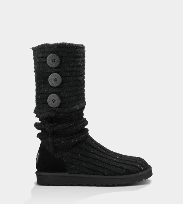 UGG WOMENS CLASSIC CARDY BLACK MULTI