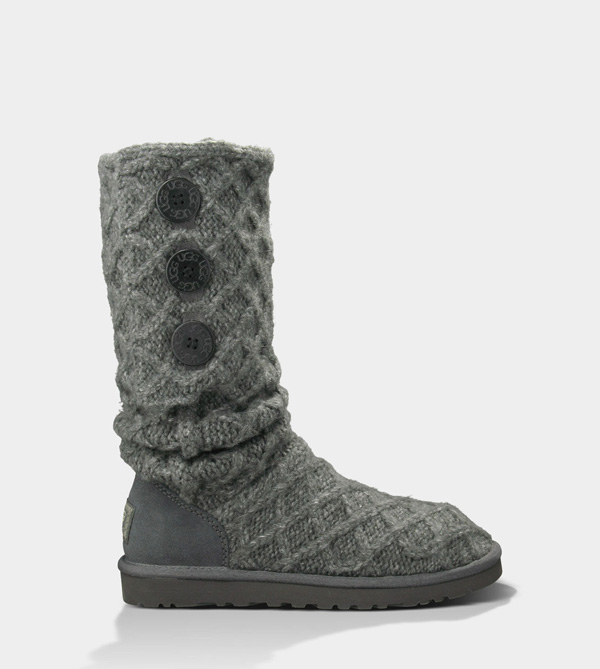 UGG WOMENS LATTICE CARDY CHARCOAL