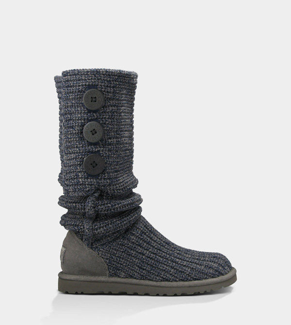 UGG WOMENS CLASSIC CARDY NAVY/CHARCOAL